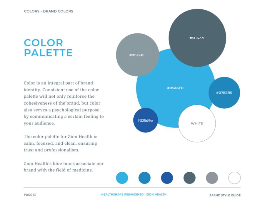 Branding Guide Color Palette